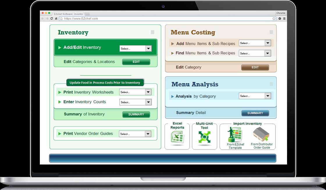 EZchef Software screenshot